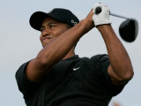 Tiger Woods, Open 2004 en el club de golf Royal Troon Lámina fotográfica