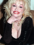 Dolly Parton Singer Being Interviewed in September 1998 Photographic Print