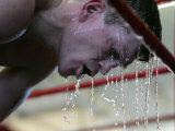 Boxer Ricky Hatton During His Last Training Session Before Flying to America to Fight Louis Cullaza Lámina fotográfica