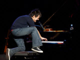 Jamie Cullum at His Piano at St Davids Hall, Cardiff February 2004 Photographic Print