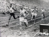 1948 Olympic Games the Finish of the 100 Meter Sprint at the London Olympic Games Fotografisk tryk