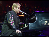 Elton John in Concert on His World Tour For His Firet Night in the UK at Wembley Arena Photographic Print