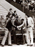 Bobby Robson - August 1978 England Manager - Shaking Hands with Brian Clough Photographic Print