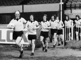 Elton John Superstar Leading Watford Fc Out For Training Photographic Print