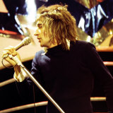 Rod Stewart - Pop Star - the Faces in Rehearsals at the White City Studios of Top of the Pops Photographie