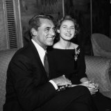 Actor Cary Grant with Ingrid Bergman November 1957 Photographie