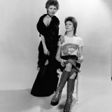 David Bowie and Lulu - December 1973 Davidbowie Singers Studio Shot Photographic Print