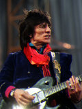 Rolling Stones Ronnie Wood on Stage at Murrayfield Photographic Print