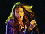 Steve Tyler of Aerosmith on Stage at the S.E.C.C. in Glasgow Lmina fotogrfica
