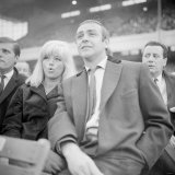 Actor Sean Connery Attending a Football Match with Actress Dina Dors Photographic Print