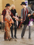 Pete Doherty and Kate Moss Backstage at the Glastonbury Festival June 2007. Glastonbury Festival Photographic Print