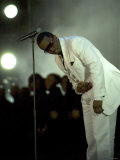 P Diddy Performing at the Princess Diana Memorial Concert at Wembley Stadium Photographic Print