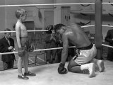 Cassius Clay, with Patrick Power During Training For Heavyweight Title Fight Against Henry Cooper Lámina fotográfica