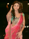 Shilpa Shetty, Bollywood Star, Enters the &#39;Celebrity Big Brother&#39; House. 3rd January 2007 Photographic Print