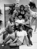Comedian Benny Hill with His Hill's Angels Fotografiskt tryck