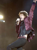 Mick Jagger of the Rolling Stones on Stage at the Isle of Wight Festival Fotografisk tryk