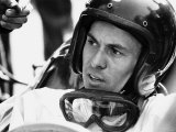 World Champion Racing Driver Jim Clark Wearing His Helmet and Goggles Round His Neck. 1964 Photographic Print