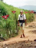 Princess Diana Angola Visit 1997 Walking Through Minefield Photographic Print