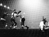 Bobby Charlton Jumps After Brian Kidd Goal 1968. Manchester United Against Gornik in European Cup Photographic Print
