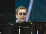 Elton John Performing at the Princess Diana Memorial Concert at Wembley Stadium Photographic Print