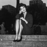 Actress Sophia Loren in London, October 1957 Papier Photo