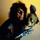 Alice Cooper Holding Skull Head September 1987 Photographic Print