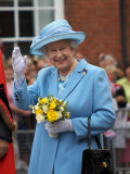 Queen Elizabeth II Attended a Service to Mark 400th Anniversary of Market Town's Royal Charter Photographic Print