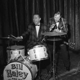 Bill Haley on First Visit to England Which Was Largley Sponsored by the Daily Mirror Fotografie-Druck