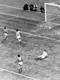 Rangers Versus Celtic. George Connelly Scores For Celtic as John Greig Looks on Helplessly Photographic Print