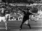 Ian Rush Liverpool Celebrates First Goal Fotografie-Druck