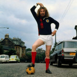 Billy Connolly Wearing Scotland Football Top 1974 Photographic Print