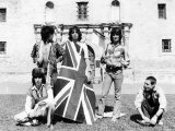 The Rolling Stones with Union Jack Flag in 1975 at the Alamo Photographic Print