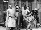 Comedians Eric Morecambe and Ernie Wise Dance with Actress Glenda Jackson Photographie