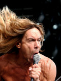 Iggy Pop on Stage at Glasgow Green, June 2004 Photographic Print
