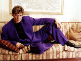 David Hasselhoff Actor Singer Reclining on Settee Wearing Purple Suit Photographic Print