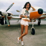 Alice Cooper at Glasgow Airport August 1975 Photographic Print