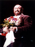 Luciano Pavarotti After Performing at the SECC in Glasgow, March 1992 Photographic Print
