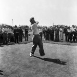 H. Weetman at the British Open Golf Championship July 1952 Stampa fotografica