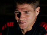 Steven Gerrard at the England Press Conference at Old Trafford, Manchester. August 2006 Photographie