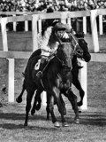Ribocco Wins the 1967 St. Leger Race at Doncaster. September 1967 Reprodukcja zdjęcia