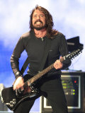 Dave Grohl of US Rock Band Foo Fighters Performs on the Main Stage at V Festival in Hylands Park Fotografie-Druck