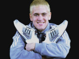 Joe Cole Models the New Adidas Climacool Trainers. February 2002 Lámina fotográfica