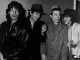 The Rolling Stones Pop Group at the 100 Club London 1986 Fotografisk tryk