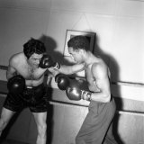 Boxing. Alex Buxton in the Boxing Ring Sparring with Freddie Mills. May 1953 Photographic Print