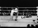Henry Cooper vs Cassuis Clay Boxing at Wembley Stadium Fotografisk tryk