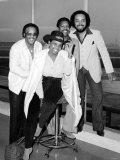 American Soul Singer Gladys Knight with Her Backing Group the Pips Fotografisk tryk