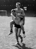 Taken For a Ride That&#39;s What Brian Clough is Doing to One of His Team-Mates. August 1959 Photographic Print