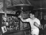 Boxing Joey Maxim American Boxer Training at Jack Solomons Gym, 1950 Photographic Print