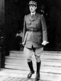 The Famous French General General de Gaulle with Reynand Government Photographic Print