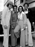 Singer Gladys Knight and the Pips Pose For a Picture at Heathrow Airport 10th May 1973 Photographic Print